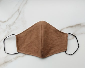 Camel - Linen 3 Layer Neutral Mask - Fits Teens and Adults