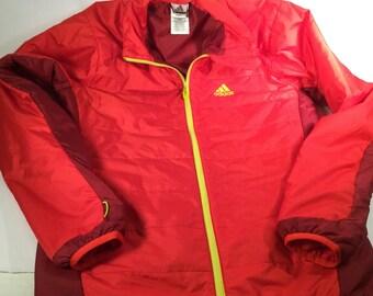 Red Adidas Jacket Etsy