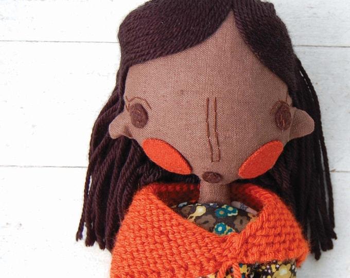 Rag Doll, Handmade Rag Doll, Girl Doll, African Doll, Ethnic Doll, Custom Doll, Custom Portrait Doll, Personalized Doll, Fabric Doll