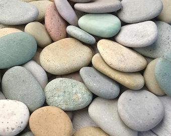 "2 lbs Mosaic pebbles - .75"" to 2"" - Blessing stone - Wedding Favor stone - River rocks bulk - Colorful stone - Alaska River rocks - Memorial"