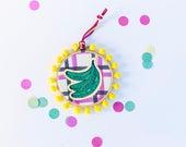 Hoop art by Marta Fofi, bananas, Embroidery hoop, embroidery designs, handmade, kitchen wall decor