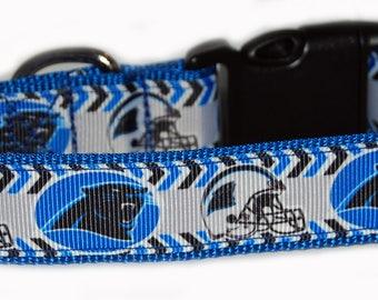 Carolina Panther NFL Dog Collar