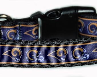 LA Rams NFL Dog Collar