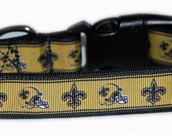 New Orlean Saints NFL Dog Collar