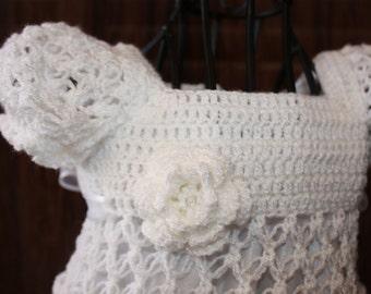 Kate / Crochet Christening Dress / Blessing Dress / Heirloom / Christening Gown /  Baptism Gown / Confirmation