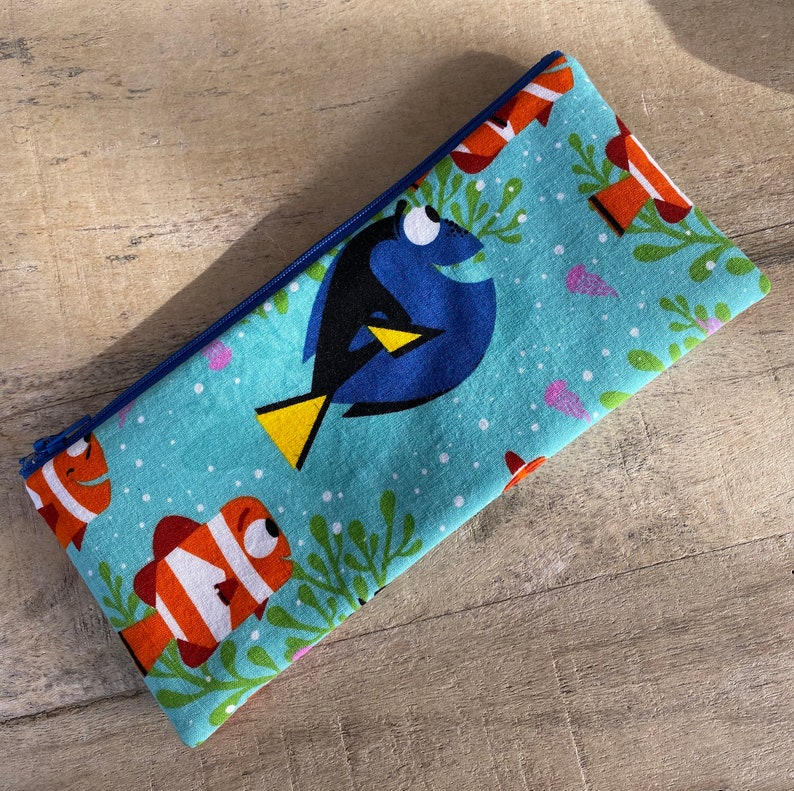SALE pencil zipper pouch nemo image 0