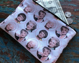 medium zipper pouch golden girls
