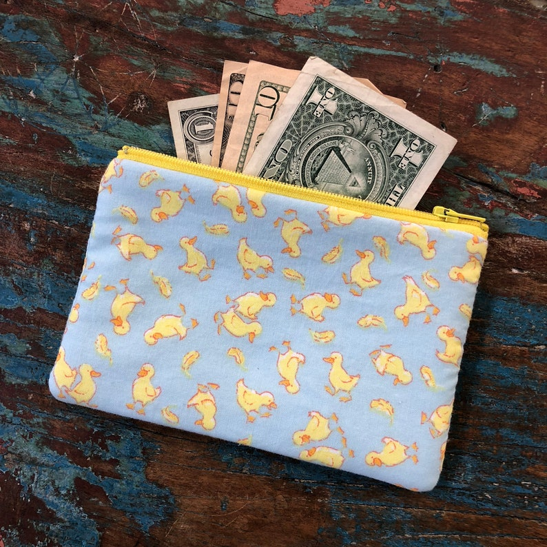 small cell phone change purse golden book ducks image 0
