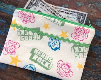 medium zipper pouch nerds rock