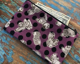 medium zipper pouch bunny foo foo