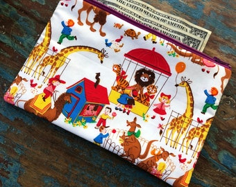medium zipper pouch the circus is in town