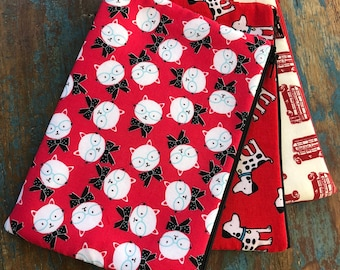 medium zipper pouch the red collection