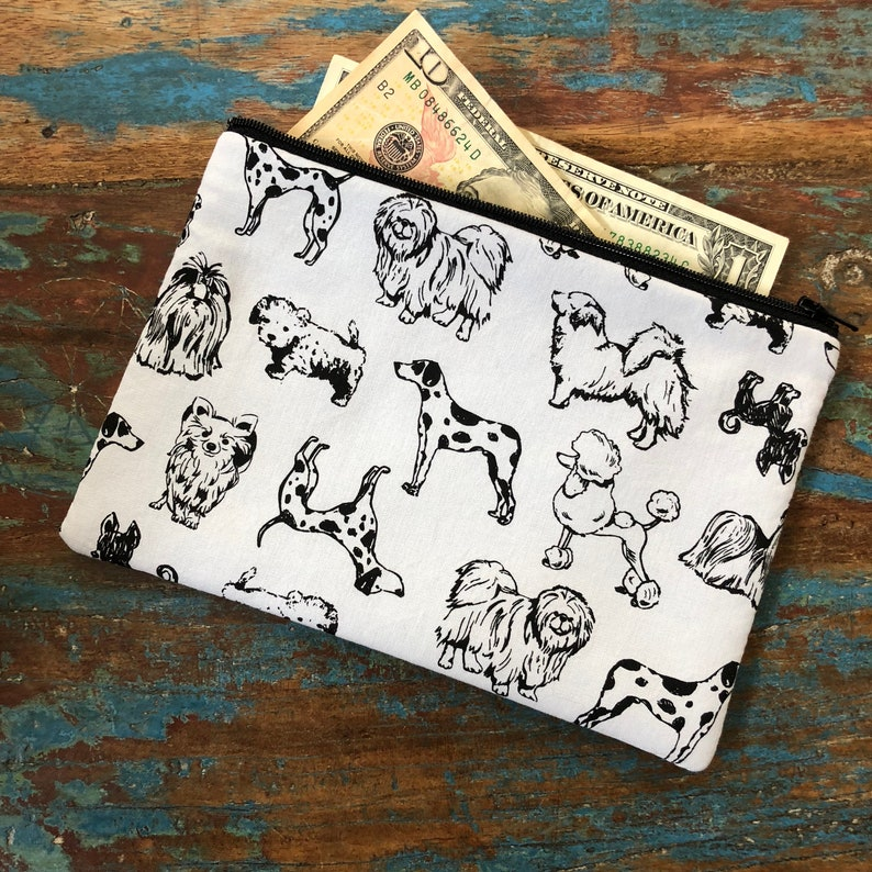 medium zipper pouch dog adoptions image 0