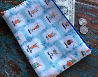 medium zipper pouch tiki drinks