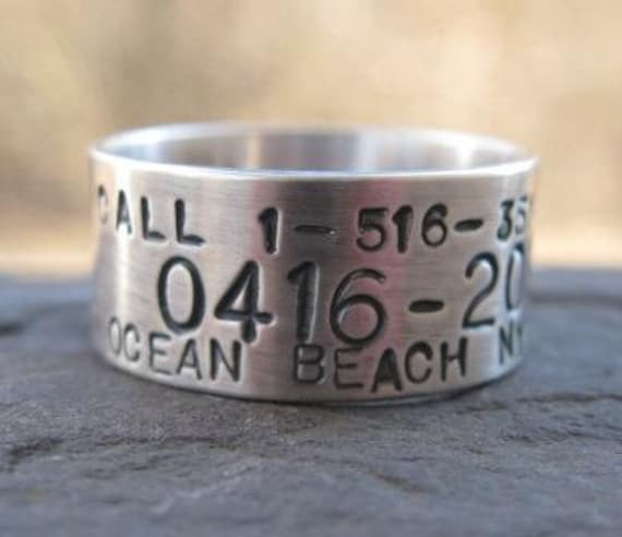 Personalized Sterling Silver Duck Band Wedding Ring Sterling Etsy