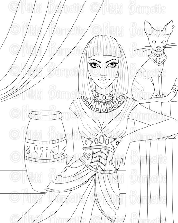 cleopatra egyptian coloring pages - photo#7