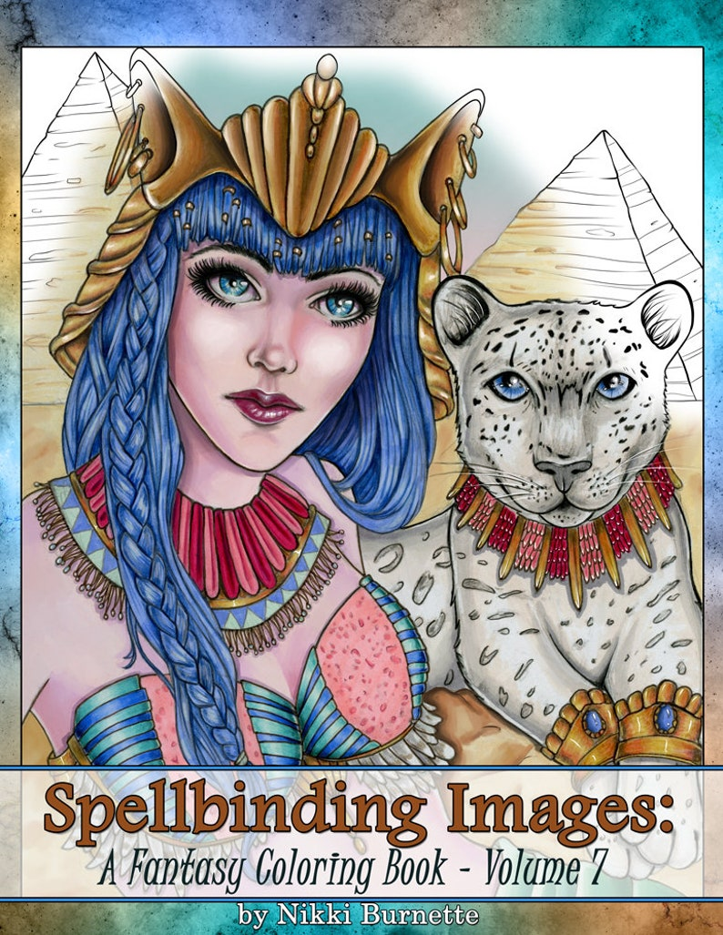 Adult Coloring Book  Printable Coloring Book  Fantasy image 0
