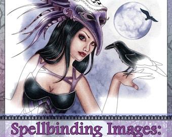Adult Coloring Book - Printable Coloring Book - Fantasy Coloring Book - Digital Download - 20 Images to Color - Volume 4 - Nikki Burnette
