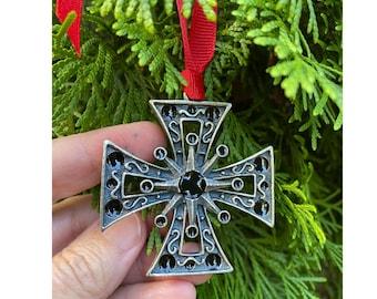 Maltese Cross Christmas Ornament