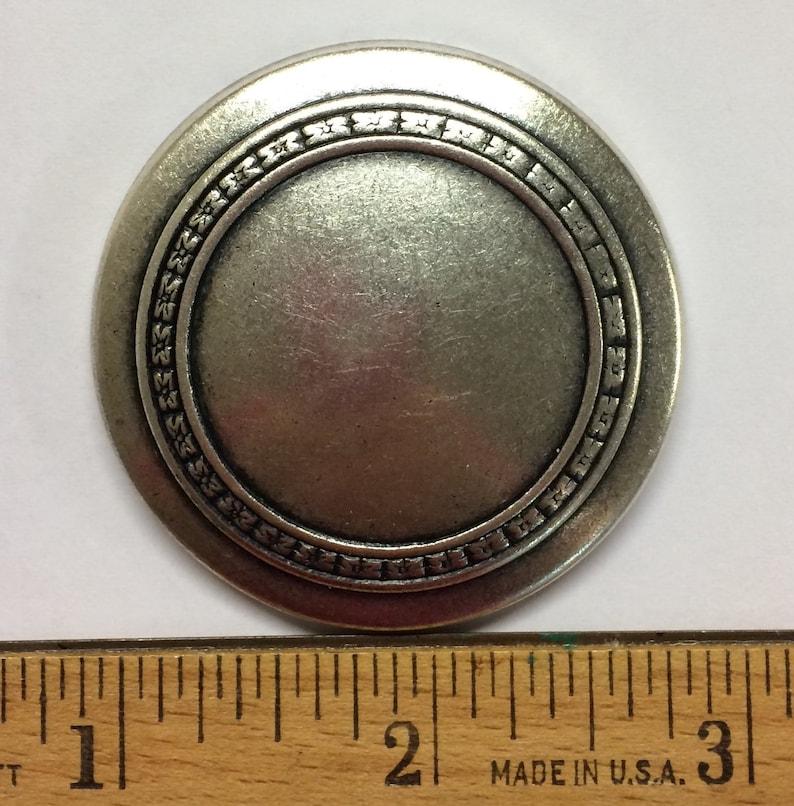 Cane Topper,Art Deco flower Design Jewelry supplies Maker supplies Dapped Stamping flower design Vintage Stamping Vintage Medallion