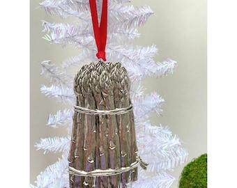 Vegetarian Asparagus Christmas Ornament