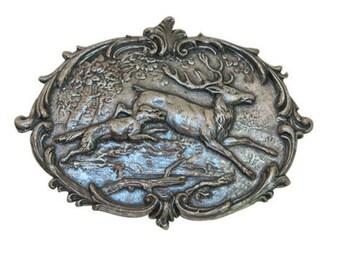 Vintage Deer Medallion, Large