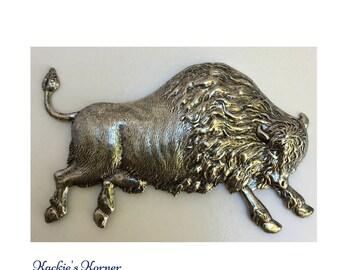 Buffalo Bison Medallion, Buffalo Bison Jewelry Component, Buffalo Bison decoration, Altered Art Jewelry, Jewelry component
