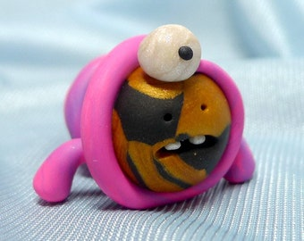 Evolving Worm - Feeping Creatures polymer clay monster figurine