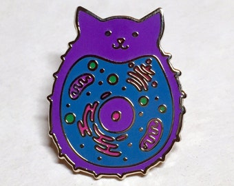 Feeping Creatures enamel pin - Microscopic Cat Cell
