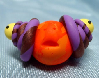Eyestalk Monster - Feeping Creatures polymer clay monster figurine