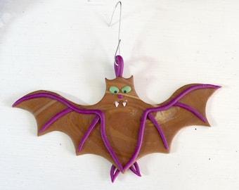 Brown Vampire Bat Ornament - Feeping Creatures monster figurine