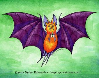 Feeping Creatures monster art - Spider Bat