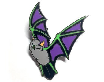 Halloween Bat enamel pin -  by Feeping Creatures
