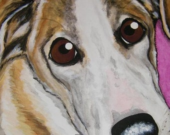 Custom Pet Portrait Painting 8x10 handpainted