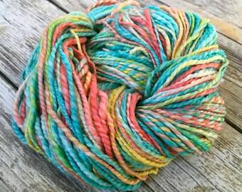 Handspun Merino/Bamboo/Nylon Yarn - A Day at the Beach