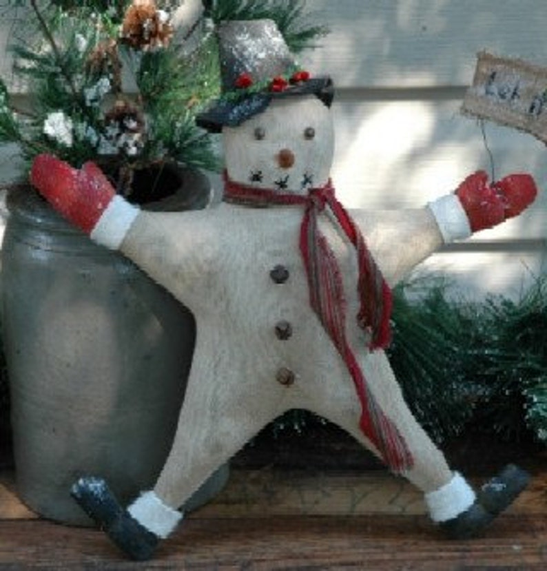 Let It Snow Pattern Snowman Ornie Christmas Tree Topper E Pattern