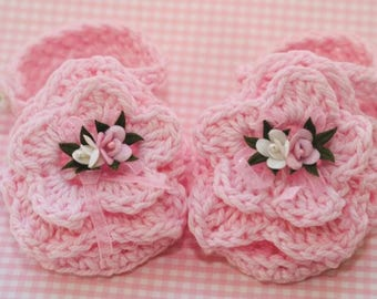 2fc52248352e0b Cheryl s Crochet CC21a Baby Flowered Cotton Sandals PDF Download Crochet  Pattern