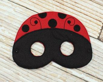 Ladybug Mask - felt ladybug mask for  , Halloween, or Dress-up Play, Ladybug Halloween Mask, Ladybug Halloween Costume