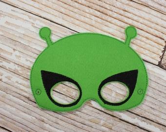 Alien Mask - felt Alien mask for , Halloween, Dress-up Play, Alien Halloween Mask, Alien Halloween Costume