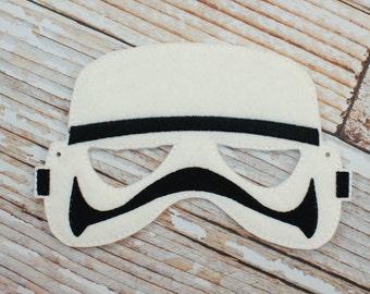 Stormtrooper Mask - felt Stormtrooper mask for Halloween, Dress-up, Stormtrooper Halloween, Stormtrooper Halloween Costume
