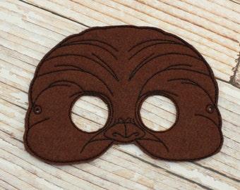 Chewbacca Mask - felt Chewbacca mask for Halloween, Dress-up, Chewbacca Halloween Mask, Chewbacca Costume, Star Wars Costume