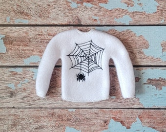 Elf Clothes - Spider Web Sweater, Halloween Sweater, Elf Halloween, Elf clothes, Christmas Elf, Scout Elf, Original Elf or Plush Elf
