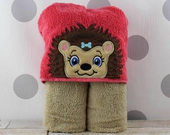 or Swimming Pool Hedgehog Towel for Bath Kids Hedgehog Hooded Towel Beach Great Christmas Gift Idea! Children/'s Hedgehog Towel