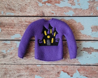 Elf Clothes - Haunted House Sweater, Halloween Sweater, Elf Halloween, Elf clothes, Christmas Elf, Scout Elf, Original Elf or Plush Elf