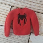 "SpiderMan Sweater, Elf Sweater, Elf clothes, Elf attire, Christmas, Mischevious Elf, Scout Elf, Doll sweater 12"" doll clothes"