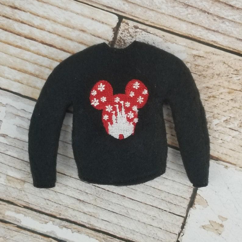 Snowflake Mouse Sweater Elf Sweater Elf clothes Elf attire image 0