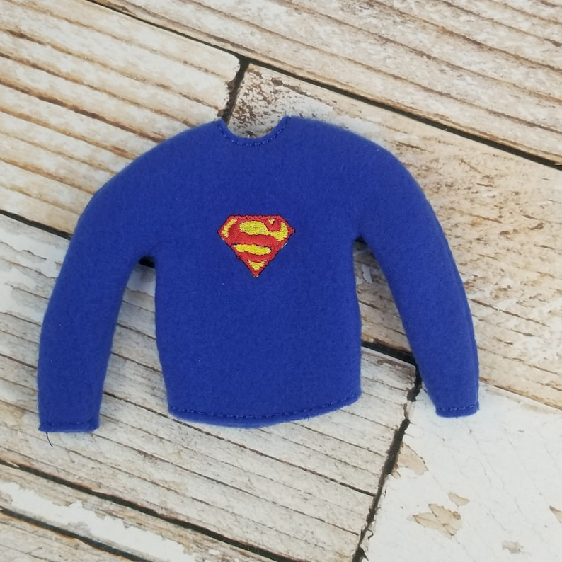 Superman Sweater Elf Sweater Elf clothes Elf attire image 0