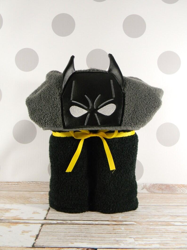 Teen or Adult Hooded Towel  Crime Fighting Bat Hero Hooded image 0
