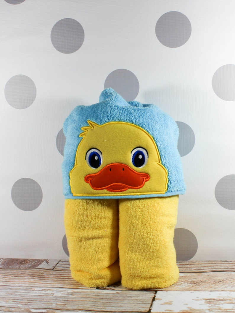 Kid's Duck Hooded Towel  Duck Towel for Bath Beach or image 0