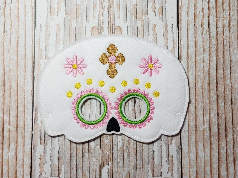 Sugar Skull Mask  felt Sugar Skull mask for Birthday Parties image 0